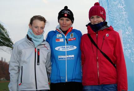 Podestplatz (2. Rang) für Flurina Glaus (links) am Radquer in Dorigny (VD)
