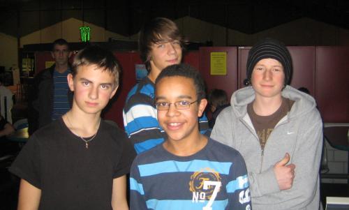 Luca, Thomas, Micha und Severin.