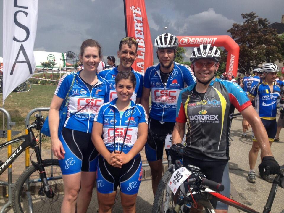 Die RSC BikerInnen nach dem Rennen